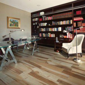 Samie Acadia Rosso Wood effect Porcelain Floor 15x90cm