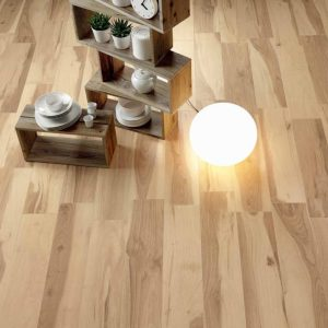 Samie Acadia Light Beige Wood effect Porcelain Floor 22.5x90cm