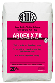 Ardex X7R Grey Rapid Setting Flexible Wall & Floor Adhesive 20kg