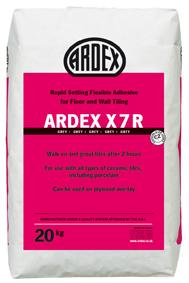 Ardex X7R Grey Rapid Setting Flexible Wall & Floor Adhesive 20kg