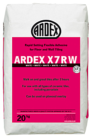 Ardex X7R White Rapid Setting Flexible Wall & Floor Adhesive 20kg