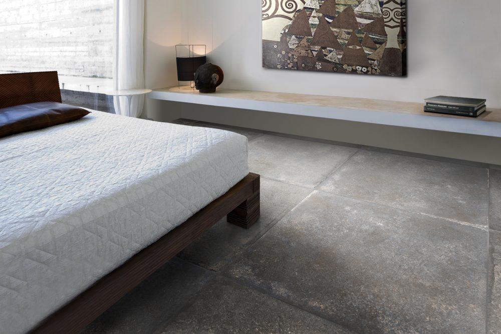 Dusty Grey Matt Porcelain Floor Tile 75x75cm The Tile Bin