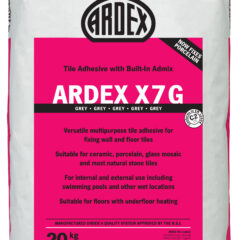 Ardex X7 Grey Standard Setting Flexible Wall & Floor Adhesive 20kg