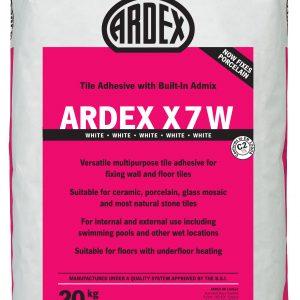 Ardex X7 White Standard Setting Flexible Wall & Floor Adhesive 20kg
