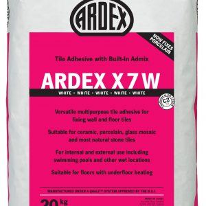 Ardex X7 White Standard Setting Flexible Wall & Floor Adhesive 20kg