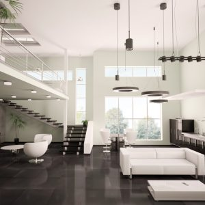 Azteca Smart Lux Black Semi-polished Porcelain tile 30x60cm
