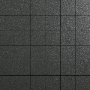 Azteca Smart Lux Black Semi-polished 30x30cm Mosaic Porcelain Sheet