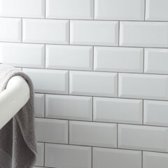 Metro Bevelled White Wall 10x20cm (7mm thick approx)