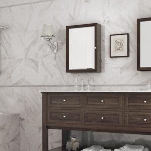 Dolomite Carrara Marble Gloss Ceramic Wall 25x40cm