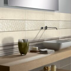 Saxon Beige Gloss Ceramic Wall 20x60cm