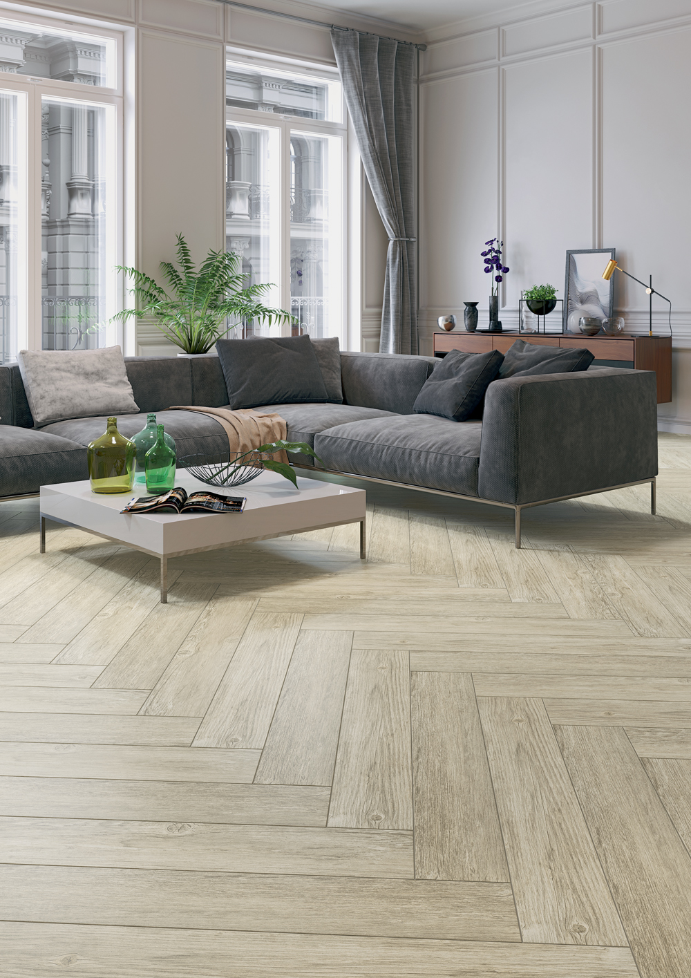 Forester Beige Wood Effect Porcelain Tile 21 5x98 5cm