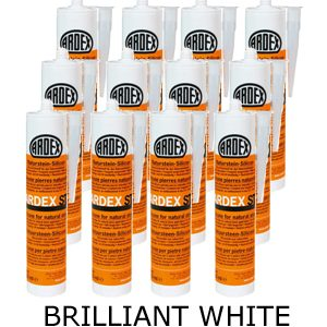 Ardex ST Silicone Sealant Brilliant White – Bulk Buy 12 Tubes (310ml per tube)