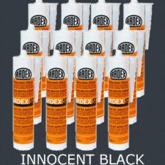 Ardex ST Silicone Sealant Innocent Black – Bulk Buy 12 Tubes (310ml per tube)