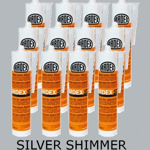 Ardex ST Silicone Sealant Silver Shimmer – Bulk Buy 12 Tubes (310ml per tube)