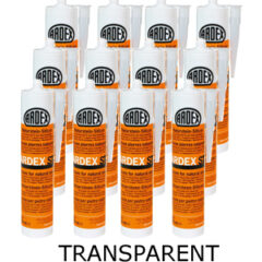 Ardex ST Silicone Sealant Transparent  – Bulk Buy 12 Tubes (310ml per tube)
