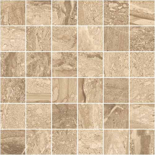Tumbled Noce Stone Effect Travertine Wall Tile Pack Of 15: Stratum Noce Matt Porcelain Wall Or Floor Mosaic 30x30cm
