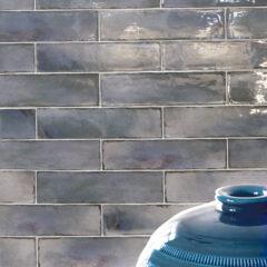 Manhattan Blue Ceramic Wall 13x39cm