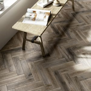 Treverkmade Dark wood effect porcelain tile 7x28cm