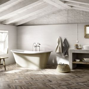 Treverkmade Medium wood effect porcelain tile 7x28cm