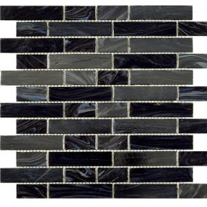 Black Ice Iridescent Glass Mosaic 30x30cm