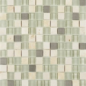 Beige Glass/Metal/Stone Mosaic Mix 30x30cm