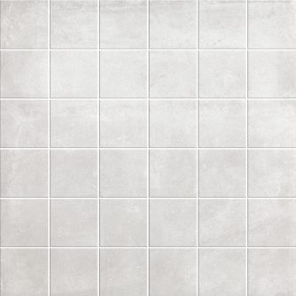 White cement look mosaic porcelain