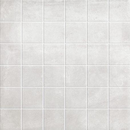 White cement look mosaic porcelain