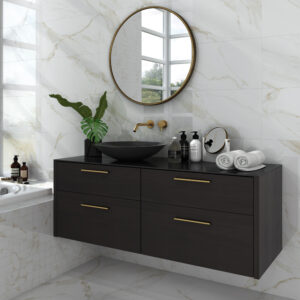 Atmosphere Marble White and Gold 30×60.4cm Polished Porcelain tile