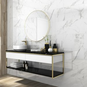 Atmosphere rectangle Marble look Polished Porcelain Porcelain
