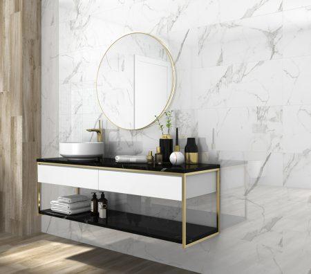 Atmosphere rectangle Marble look Polished Porcelain Porcelain