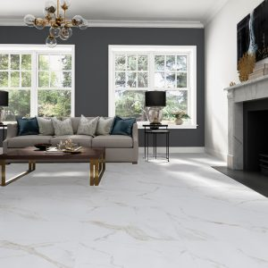 Atmosphere gold veined marble look Polished Porcelain