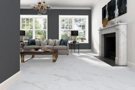 Atmosphere gold veined marble look Polished Porcelain