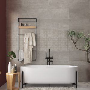 Storm Grey Porcelain wall and floor tile 30x60cm