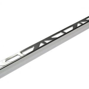 Square Edge (L shape) Tile Trim 12mm x 2.5mtr Silver High Gloss Anodised Aluminium (Dural Dursol DSA1262)