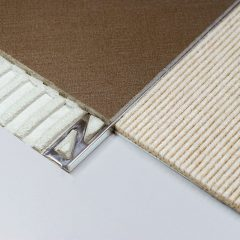 Square Edge (L shape) Tile Trim 10mm Stainless Steel (Dural Durosol DSE100)
