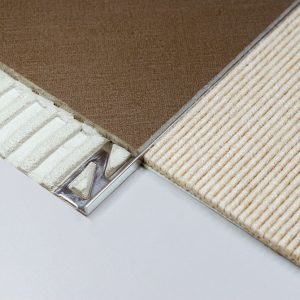 Square Edge (L shape) Tile Trim 8mm Stainless Steel (Dural Durosol DSE80)