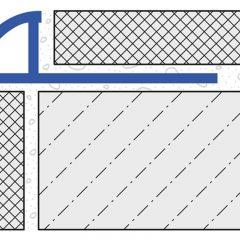 Round Edge Tile Trim 10mm x 2.5mtr Silver High Gloss Anodised Aluminium (Dural Durondell – DRA1062)