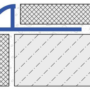Round Edge Tile Trim 12mm x 2.5mtr Silver High Gloss Anodised Aluminium (Dural Durondell – DRA1262)