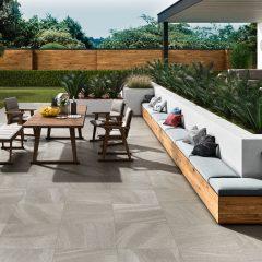 2cm thick Grosvenor Grey 60x60x2cm Porcelain Tiles for outside use