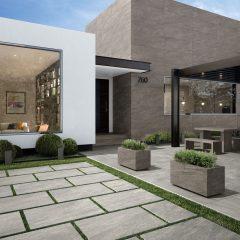 2cm thick Kensington Light Grey 60x90x2cm Porcelain Tiles for outside use
