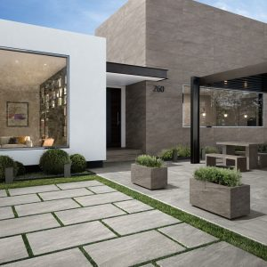 2cm thick Kensington Light Grey 60x90x2cm Porcelain Tiles for outside use