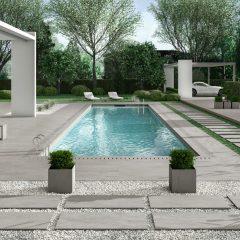 2cm thick Kensington Dark Grey 60x90x2cm Porcelain Tiles for outside use