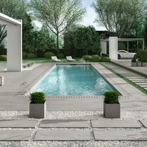 2cm thick Kensington Dark Grey 60x90x2cm Porcelain Tiles for outside use
