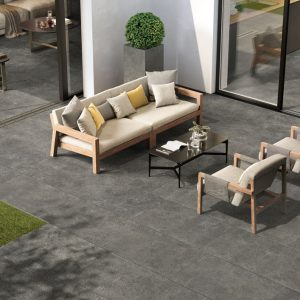 2cm thick Regent Dark Grey 60x90x2cm Porcelain Tiles for outside use