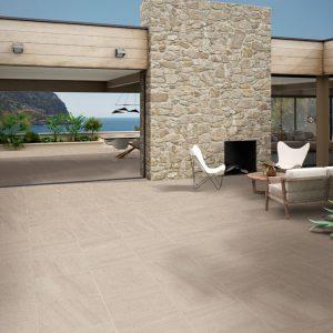 2cm thick Trafalgar Beige 60x60x2cm Porcelain Tiles for outside use