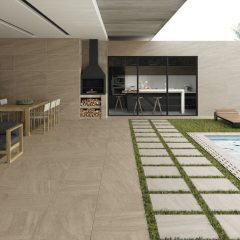 2cm thick Trafalgar Brown 60x60x2cm Porcelain Tiles for outside use