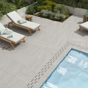 2cm thick Trafalgar White 60x60x2cm Porcelain Tiles for outside use