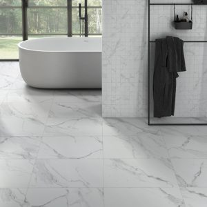 Atmosphere Marble Matt Porcelain 80x80cm White and Silver