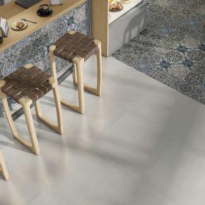 Planet White Matt Porcelain floor tile 60x60cm