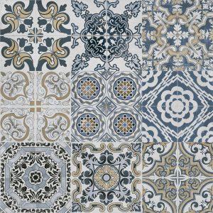 Planet Mixed Decor Matt Porcelain Floor Tile 60x60cm